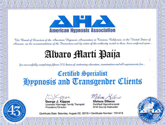 American Hypnosis Association - Hypnosis and Transgender Clients