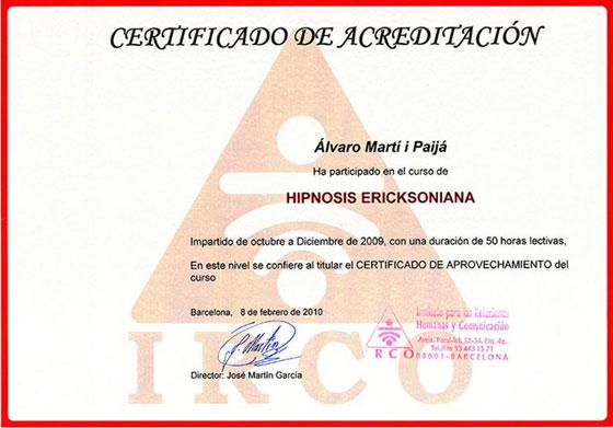 Irco Centro de Formación y Coaching - Hipnosis Ericksoniana