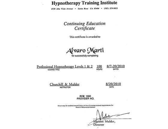 Hypnotherapy Training Institute - Professional Hypnotherapy Levels 1 & 2