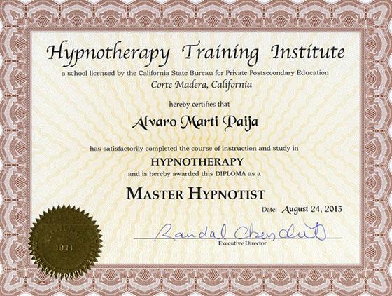 Hypnotherapy Training Institute - Master Hypnotist
