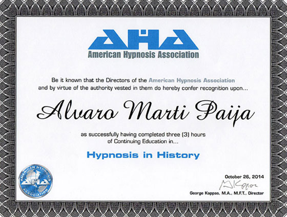 American Hypnosis Association - Hypnosis in History
